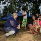 Norway's Prime Minister visits indigenous tribe in Indonesia